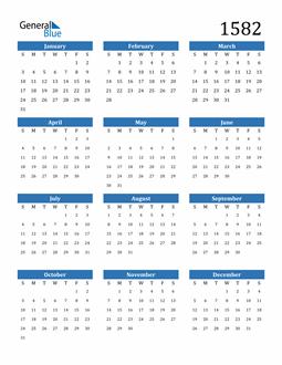Image of 1582 1582 Calendar
