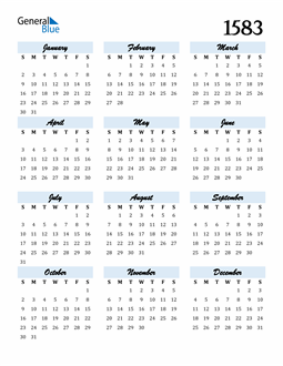 Image of 1583 1583 Calendar Cool and Funky