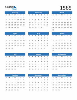 Image of 1585 1585 Calendar