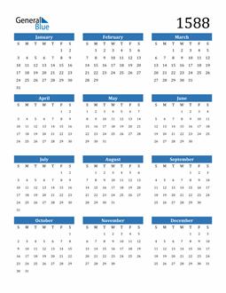 Image of 1588 1588 Calendar