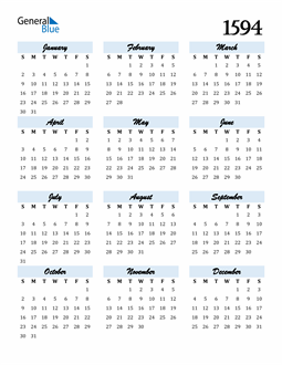 Image of 1594 1594 Calendar Cool and Funky