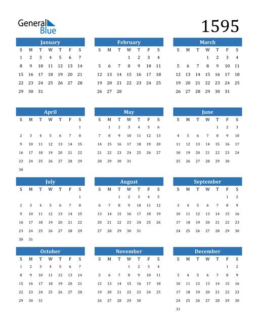 Image of 1595 1595 Calendar