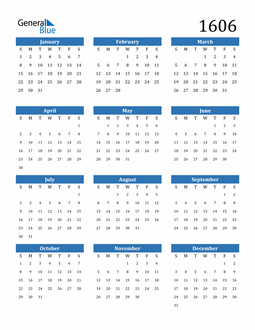 Image of 1606 1606 Calendar