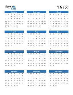 Image of 1613 1613 Calendar