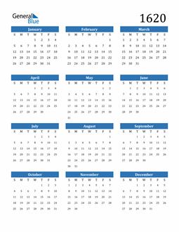 Image of 1620 1620 Calendar
