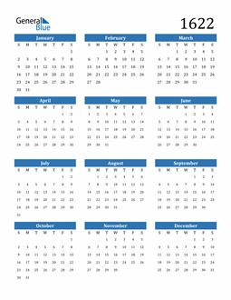 Image of 1622 1622 Calendar