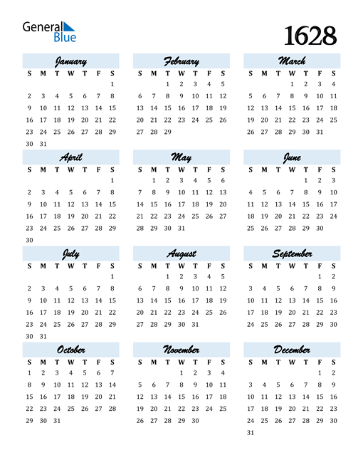 Image of 1628 1628 Calendar Cool and Funky