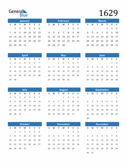 Image of 1629 1629 Calendar