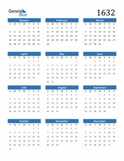 Image of 1632 1632 Calendar