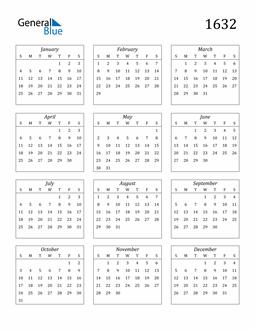 Image of 1632 1632 Calendar Streamlined