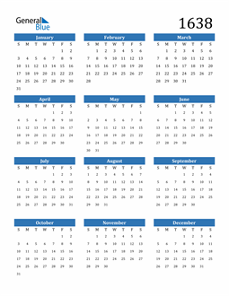 Image of 1638 1638 Calendar