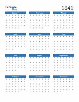Image of 1641 1641 Calendar