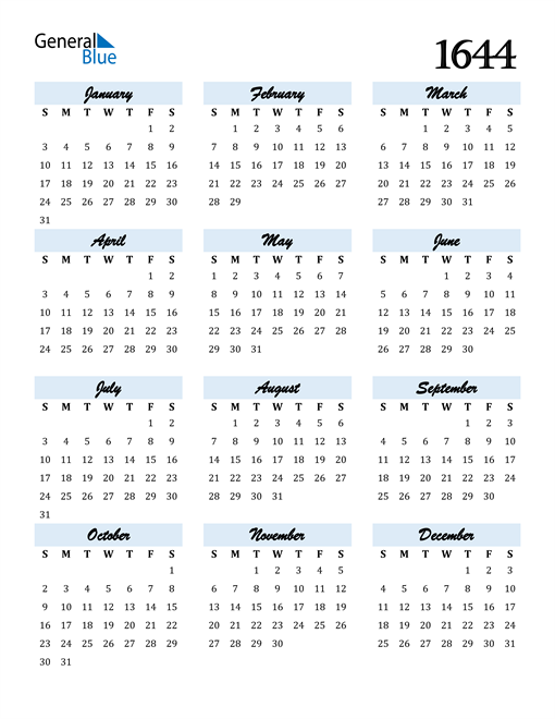 Image of 1644 1644 Calendar Cool and Funky