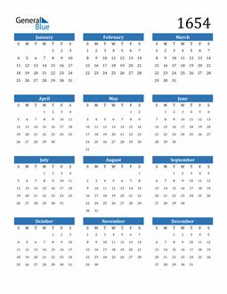 Image of 1654 1654 Calendar
