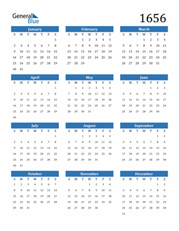 Image of 1656 1656 Calendar