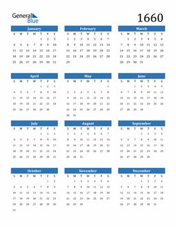 Image of 1660 1660 Calendar