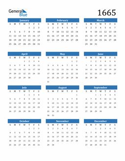 Image of 1665 1665 Calendar