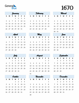 Image of 1670 1670 Calendar Cool and Funky
