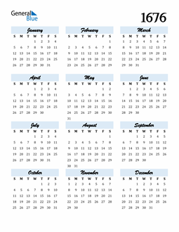 Image of 1676 1676 Calendar Cool and Funky
