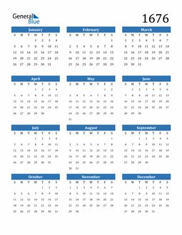 Image of 1676 1676 Calendar