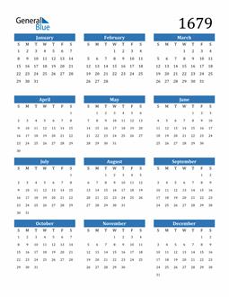 Image of 1679 1679 Calendar