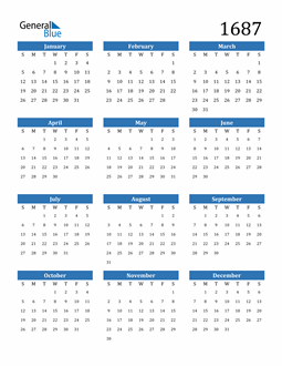 Image of 1687 1687 Calendar