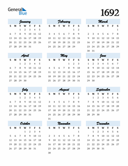 Image of 1692 1692 Calendar Cool and Funky