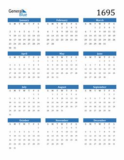 Image of 1695 1695 Calendar