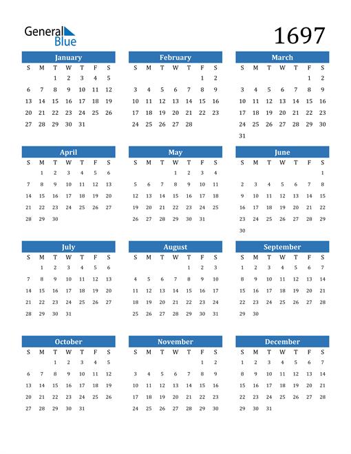 Image of 1697 1697 Calendar