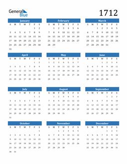 Image of 1712 1712 Calendar