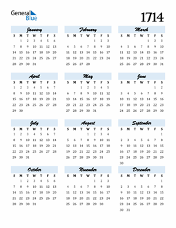Image of 1714 1714 Calendar Cool and Funky
