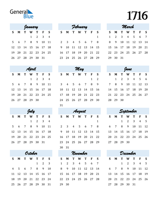 Image of 1716 1716 Calendar Cool and Funky