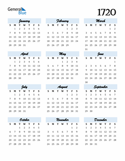 Image of 1720 1720 Calendar Cool and Funky