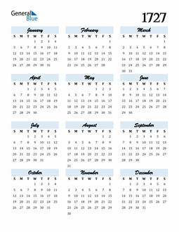 Image of 1727 1727 Calendar Cool and Funky
