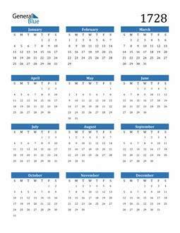 Image of 1728 1728 Calendar