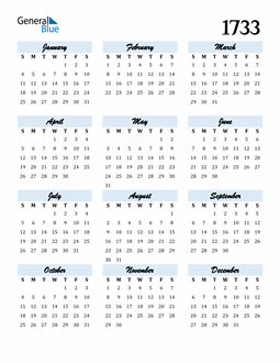 Image of 1733 1733 Calendar Cool and Funky