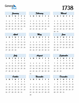 Image of 1738 1738 Calendar Cool and Funky
