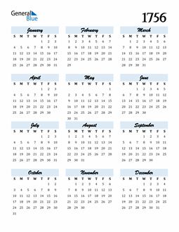 Image of 1756 1756 Calendar Cool and Funky