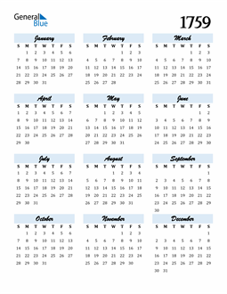 Image of 1759 1759 Calendar Cool and Funky