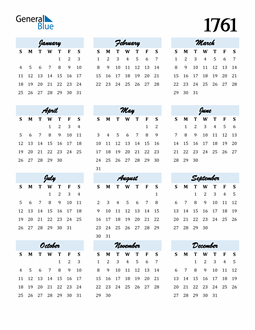 Image of 1761 1761 Calendar Cool and Funky