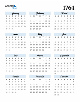 Image of 1764 1764 Calendar Cool and Funky
