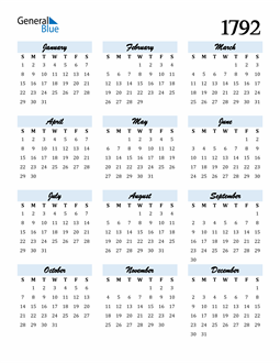 Image of 1792 1792 Calendar Cool and Funky