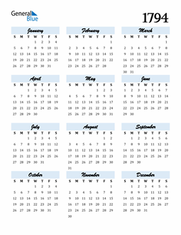 Image of 1794 1794 Calendar Cool and Funky