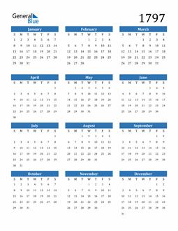 Image of 1797 1797 Calendar