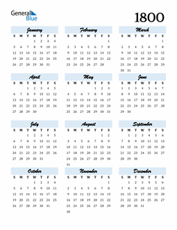 Image of 1800 1800 Calendar Cool and Funky