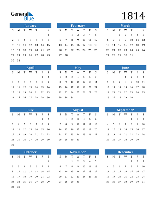 Image of 1814 1814 Calendar
