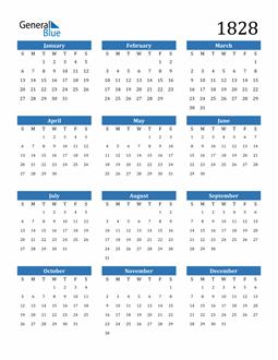 Image of 1828 1828 Calendar