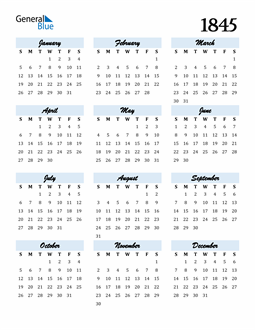 Image of 1845 1845 Calendar Cool and Funky