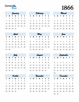 Image of 1866 1866 Calendar Cool and Funky