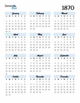 Image of 1870 1870 Calendar Cool and Funky